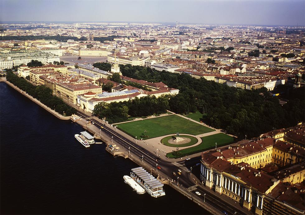Vue aérienne de St Petersbourg