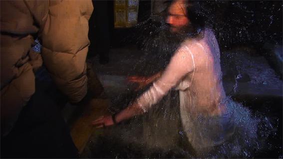 Bénédiction le jour de la fête du baptême du Christ, en janvier